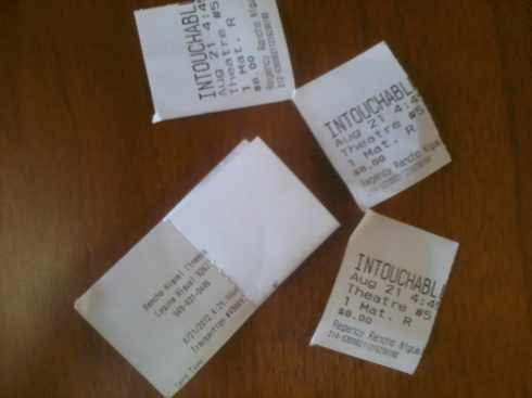 The Intouchables movie tickets